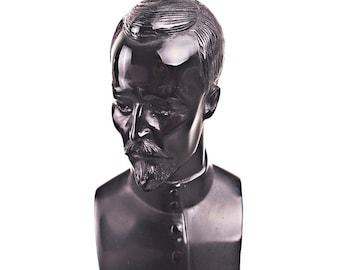 Russian Soviet USSR KGB / NKVD Leader Felix Dzerzhinsky Stone Bust / Statue 11cm (4.3'') black
