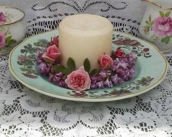 8 Inch Adams China Ming Jade Salad Plate/Candle Holder