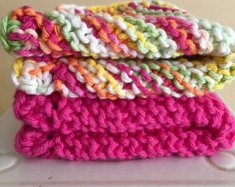 Hand-Knit Dishcloth - Set 2