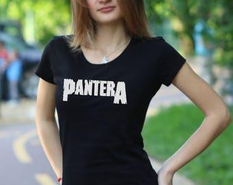 Women's T-shirt Pantera T-shirt Pantera shirt Pantera Women Shirt Rock Tee Rock Heavy Metal T-shirt