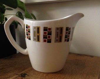 Vintage Alfred Meakin Glo-White Ironstone 'random' Milk jug