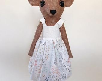 "15"" Pixie Fawn Cloth Doll (cinnamon)"