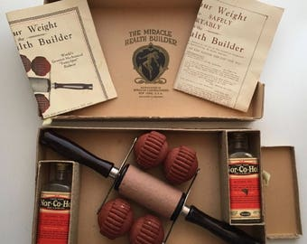Vintage 1930s Quackery The Miracle Laboratories Health Builder Fat Reducer Massage Roller