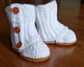 Sweet Crochet Baby Booties