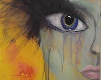"Orignial Painting named ""homesick for the stars"""