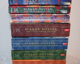 Custom Hand-Bound Complete Set of Harry Potter Books: 1-7