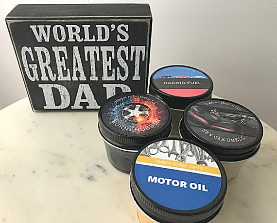 Fathers Day Gift, Mens Gift, Gifts For Dad, Dad Gifts, Gift Set, Candle Set, Car Gifts, Mechanic Gifts, Gift For Men, Candle Gift Set
