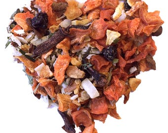 CARROT CAKE TEA. Organic Herbal tea. Loose leaf tea. 2oz kraft bag.