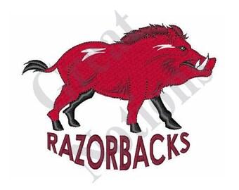 Team Razorbacks - Machine Embroidery Design