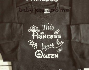 BABY AND KIDS sizes * Princess sweater, princess outfit, Disney top, matching outfits, matching tops, princess jumper