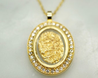 Australian 24 Carat Gold Leaf Pendant, Gold Necklace, Australian Souvenir, Gold, Gift, Gold Jewellery, Fashion Jewellery