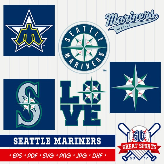 Seattle Mariners Svg Seattle Baseball Clipart Seattle Mariners Dxf