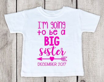 Big Sister Shirt Announcement, Big Sister Shirt, big sister shirt for girls, girl big sibling shirt, big sister announcement shirt