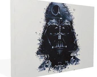 Star Wars Darth Vadar Helmet Death Star Tie Fighters Speeder X Wing Canvas Print Ready to Hang Or Poster Print