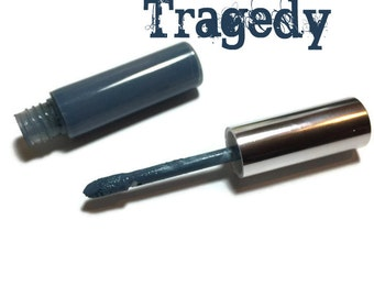 Tragedy Liquid Lipstick, Liquid to Matte Lipstick, Transfer-Proof, Vegan and Cruelty Free Cosmetics, Blue Lipstick, Goth Lipstick
