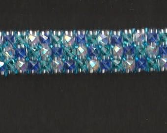 Blue Swarovski Crystal Tennis Bracelet