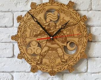 Legend of Zelda Wood Wall Clock nintendo gift Ocarina of time legend of zelda wedding legend of zelda wall art Wind Waker hyrule warriors