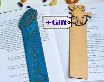 Lord of the Rings ring Bookmark Tolkien art lotr art lotr print lotr gift lotr birthday The Fellowship of the Ring The Two Towers gift wood