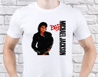Michael Jackson/ King of Pop/ Mens tshirt/ Best Gift/ Michael Tribute/ Michael Jackson Bad/ Jackson Thriller/ Thriller tshirt/ tshirt/(MJ06)