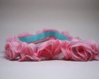 Pink Rose Headband