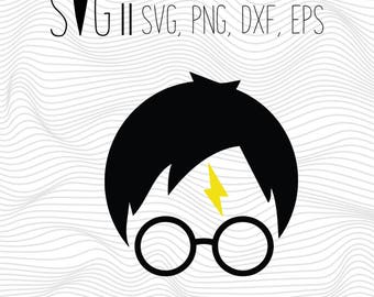 Harry Potter Svg, Harry Potter Svg Files For Silhouette For Cricut, Vector Cutting Files Vinyl Decal, Monogram Svg Harry Potter Silhouette