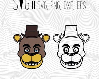 FNAF Five Nights at Freddy's Svg, Fnaf Svg Files For Silhouette For Cricut, Vector Cutting Files Vinyl Decal, Fnaf Bear Svg