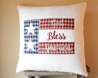 Patriotic Pillows, Patriotic Decor, Rustic US Flag Decor, American Flag Pillows, Rustic Flag Decor, 4th of July Decor, Americana Decor Style