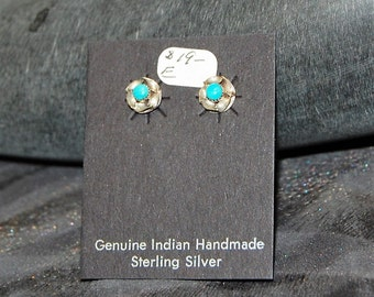 Sterling and Turquoise Post Earrings