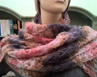 scarf in silk and mohair