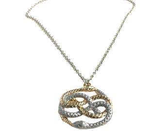 Auryn Necklace Double Snakes Pendant And Chain Neverending Story Movie Never Ending Costume Infinity Gift Atreyu Gold Silver High Quality