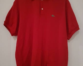 Vintage 90s Lacoste Red Polo