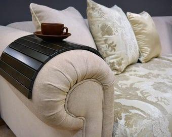 Sofa tray table, wood tray, wenge sofa tray, couch tray, Couch arm table, couch arm tray