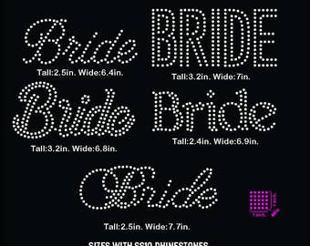 Bride words rhinestone template digital download, svg, eps, studio3, png, dxf