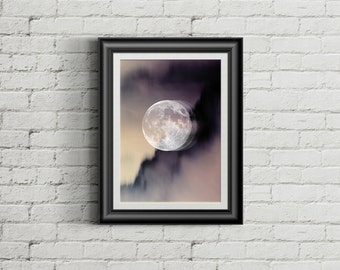 Hipster Moon Aesthetic Printable Decoration Home Decor Space Print