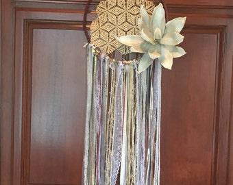 Handmade Dream Catcher, Elegant Flower, Boho