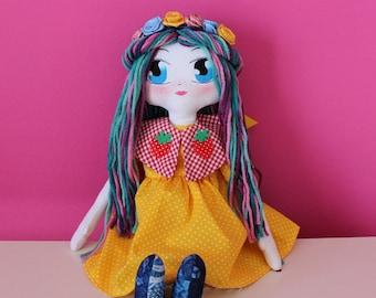 Rose-Handmade-handmade rag doll Rag doll [Hippy Style]