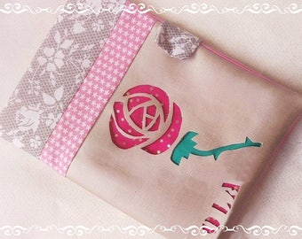"""protects custom faux health book Cook and cotton pattern """"the rose"""""""