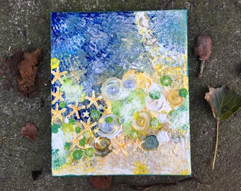 """ACRYLIC painting """"Bring back the summer"""" (30 cm x 25 cm canvas)"""
