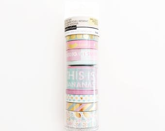 Set of 9 Washi Tapes, Recollections, Pastels and Gold