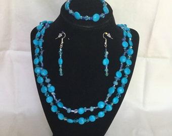 25: Necklace, Bracelet, Earrings Set