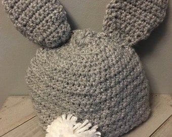 Crochet Baby Bunny Hats