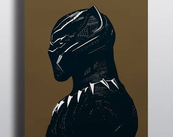 Black Panther Illustration A3 Poster (Bad Bunny Exclusive)
