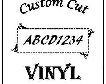 Custom Vinyl Graphics or Lettering