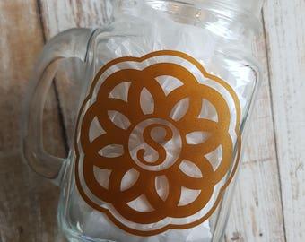 Mason Jar, Mason Jar Mug, Bridesmaids Gifts, Custom Mason Jar, Personalized Mason Jar