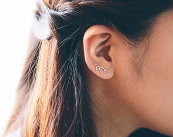 Serotonin Ear Pin Earrings (3 colors)