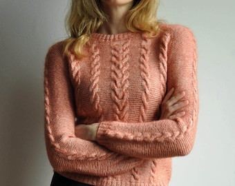 Hand knitted mohair sweater - S-M
