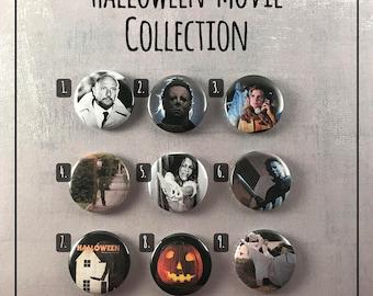"Halloween Movie 1978 1"" Buttons - Michael Myers Slasher Movie"