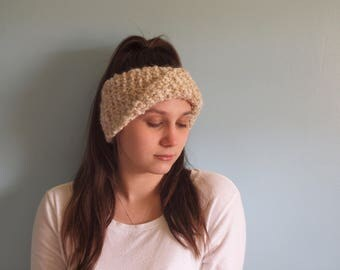 Larissa Ear Warmer // Hand Knit Ear Warmer // Hand Knit Headband // Women's Ear Warmer // Handmade Headband // Adult Ear Warmer