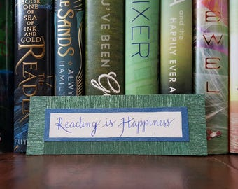 Reading is Happiness Bookmark