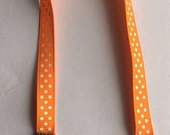 Ribbon bookmark / Love charms / Polka dot bookmark / Neon bookmark / Silver charms / Handmade